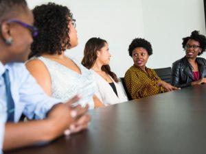 boardroom of diverse people, diversity, black inclusion