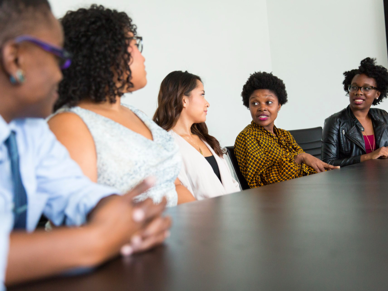 boardroom of diverse people, diversity, black inclusion