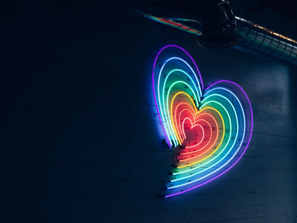 LGBTQ, coming out at work, rainbow heart