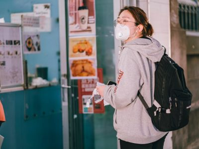 woman wearing a face mask, returning to work after lockdown, COVID-19, preparedness