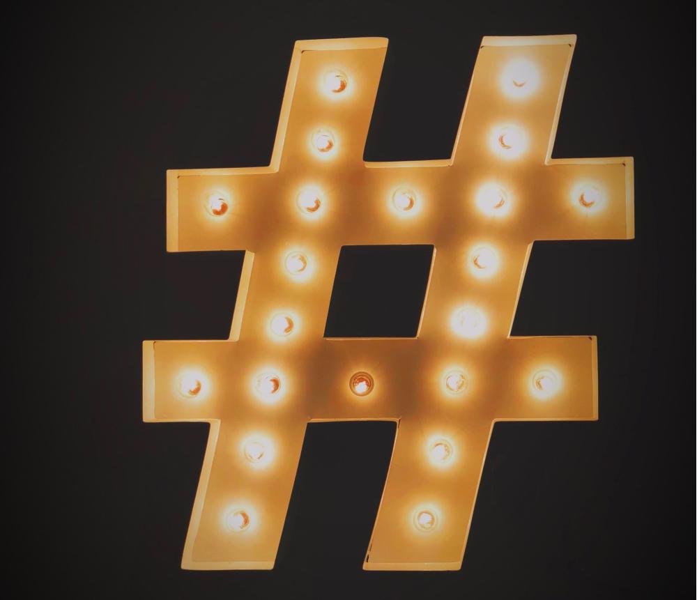 hashtag, social media, lights