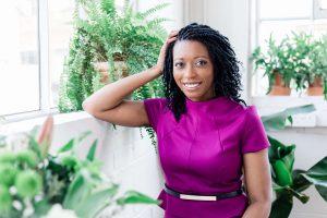 Dr Yvette Ankrah MBE purple dress