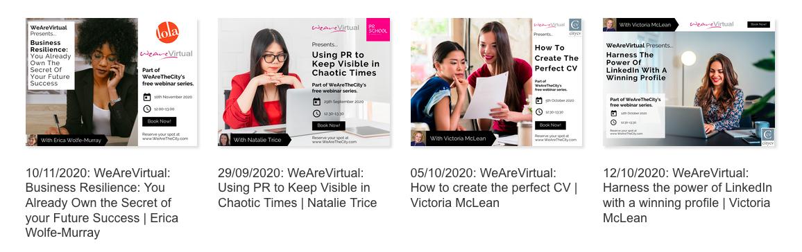 WeAreVirtual webinars