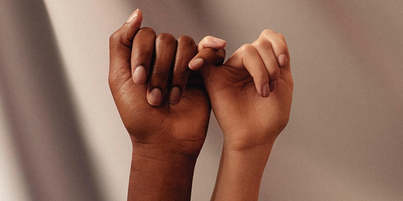 Black History Month event image, Holding hands