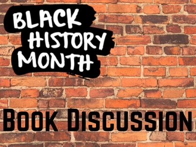 Black history month book discussion, reading group event image featured