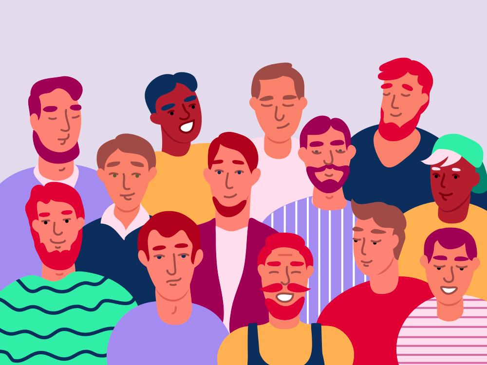 International Men's Day, diverse group of men
