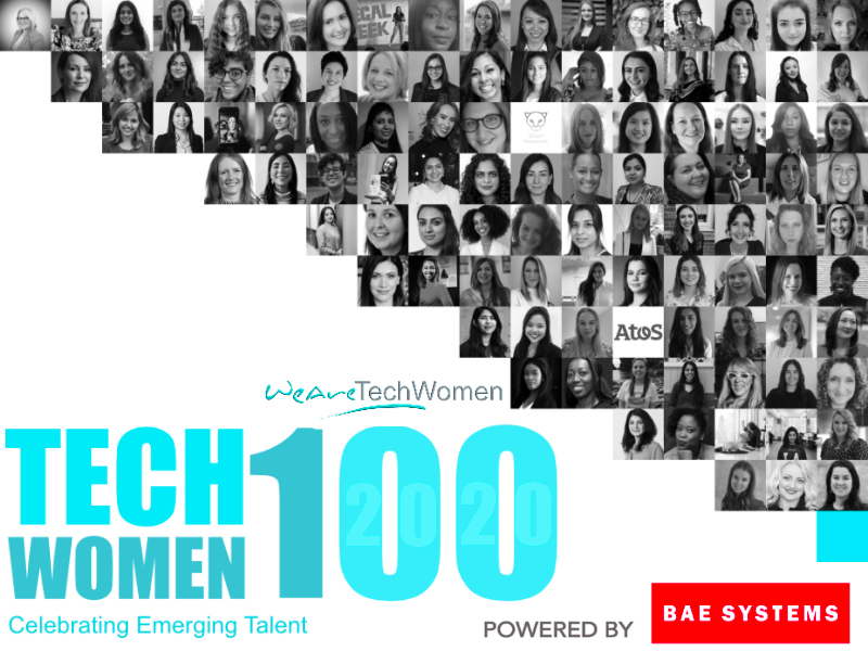 TechWomen100 Winners Staggered Banner featured