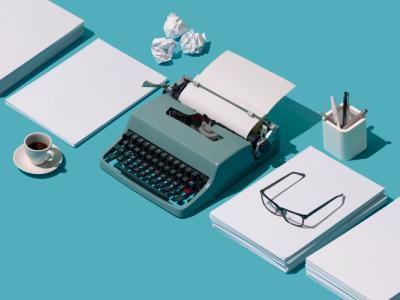 vintage typewriter, female creatives, creative industry