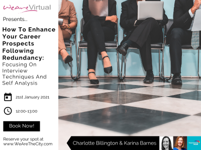WeAreVirtual, Charlotte Billington & Karina Barnes redundancy webinar featured