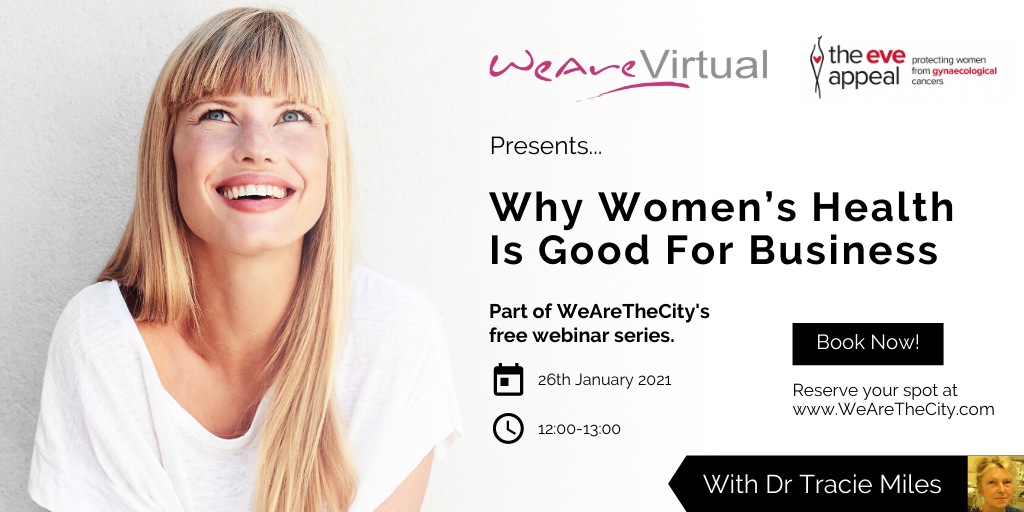 WeAreVirtual, Dr Tracie Miles webinar, Women's health