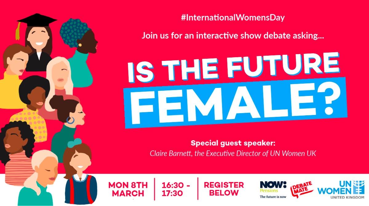 International Women's Day, Debate Mate, Now Pensions, UN Women event