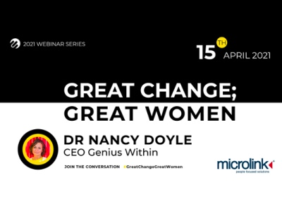 Great Change; Great Women, Microlink event with Dr Nancy Doyle featured