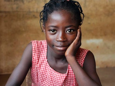 African school girl, period poverty