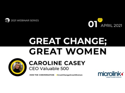 Great Change; Great Women, Caroline Casey, Microlink event featured