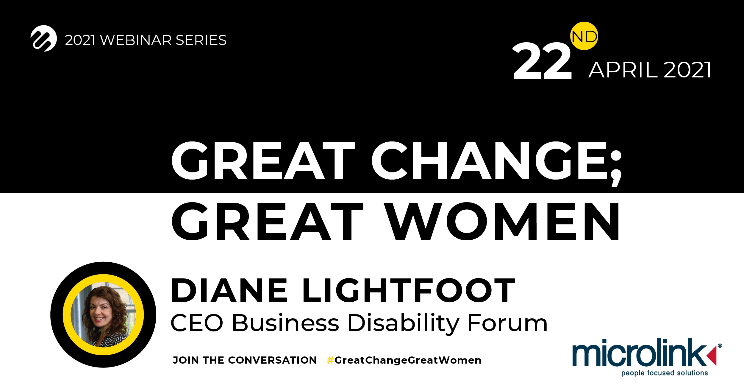 Great Change; Great Women, Microlink event with Diane Lightfoot