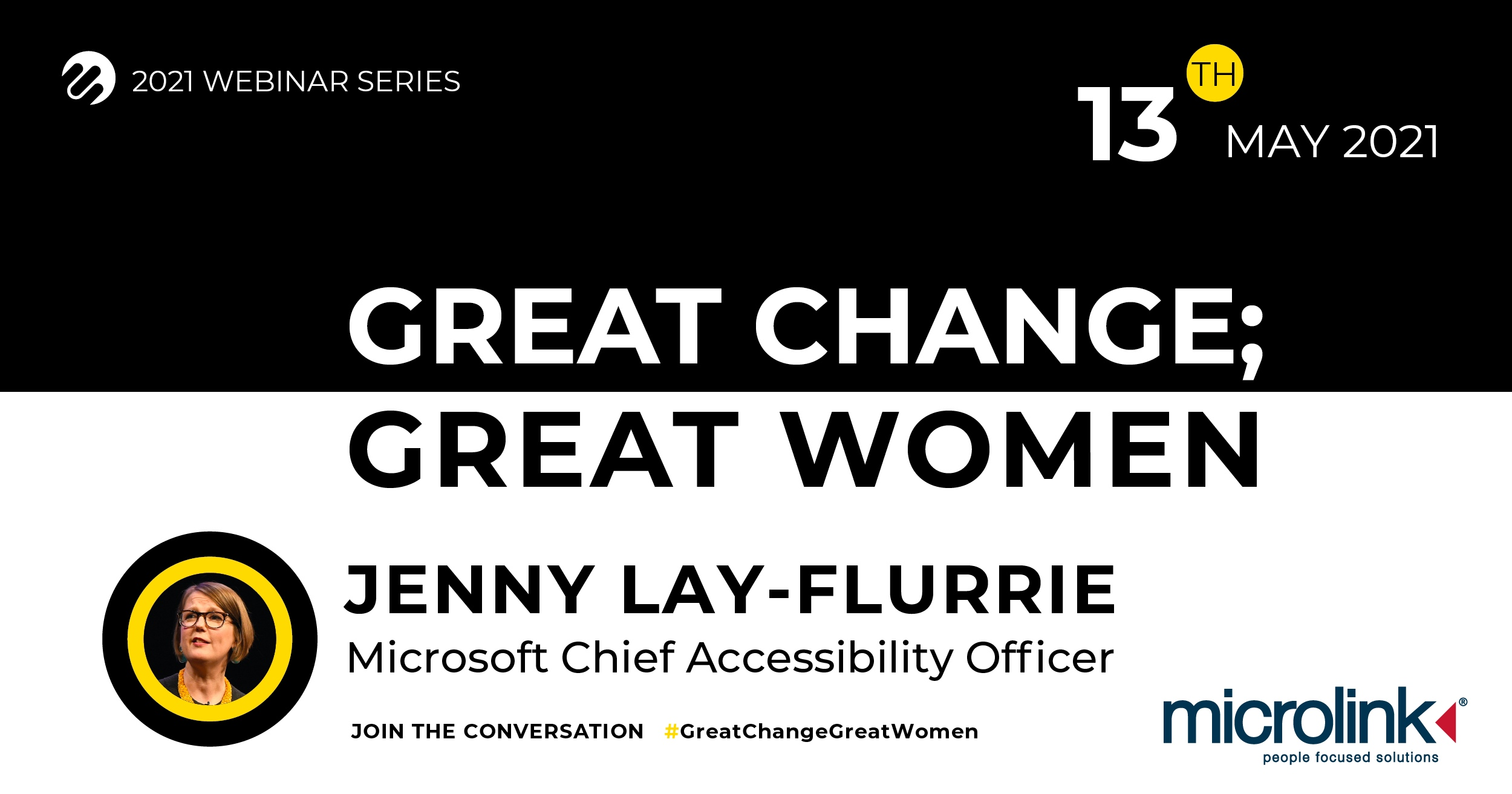 Great Change; Great Women, Microlink event with Jenny Lay-Flurrie