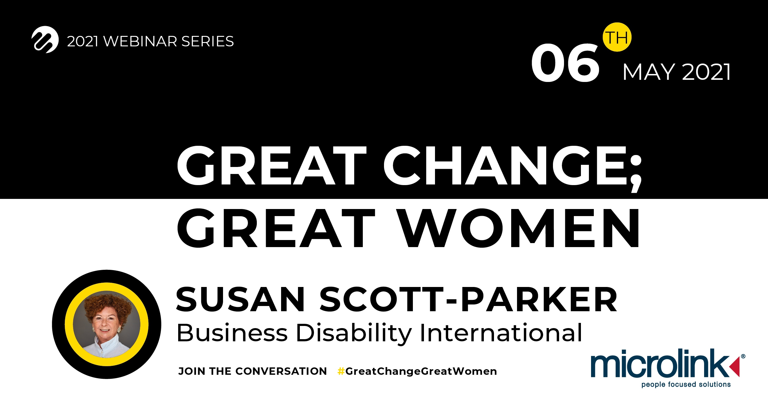 Great Change; Great Women, Microlink event with Susan Scott-Parker