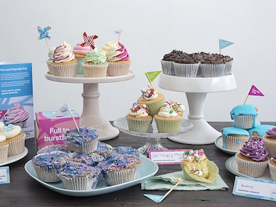 Alzheimers Society's Cupcake Day cake display