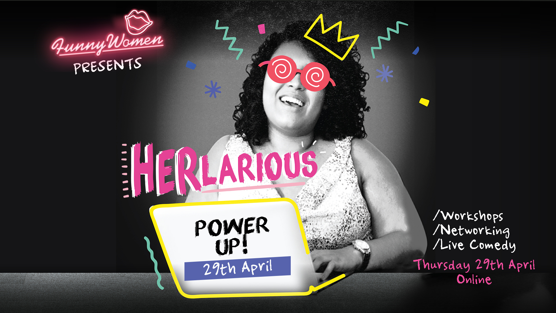 HERlarious PowerUp Funny Women event