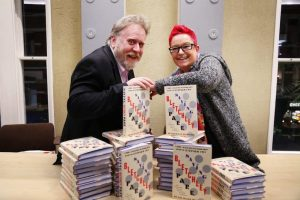 Professor Sue Black & Stevyn Colgers with their book, Saving Bletchley Park