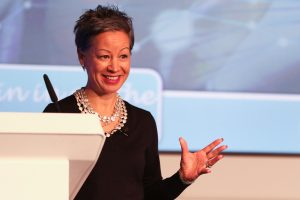 Jacqueline de Rojas, President, techUK, speaking at our 2016 WeAreTechWomen conference
