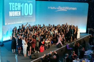 Group photo at our 2019 TechWomen100 Award's Ceremony