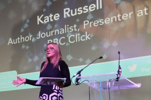Kate Russell, Author, Journalist, Presenter, BBC Click hosting WeAreTechWomen's 2017 Conference