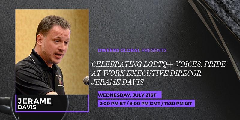 Pride Month, LGBTQ event with Jerame Davis