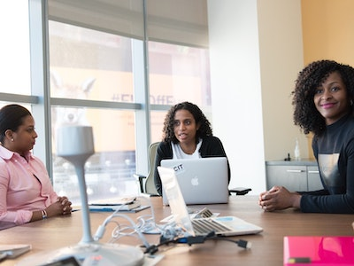 group of professional black women, menopause support