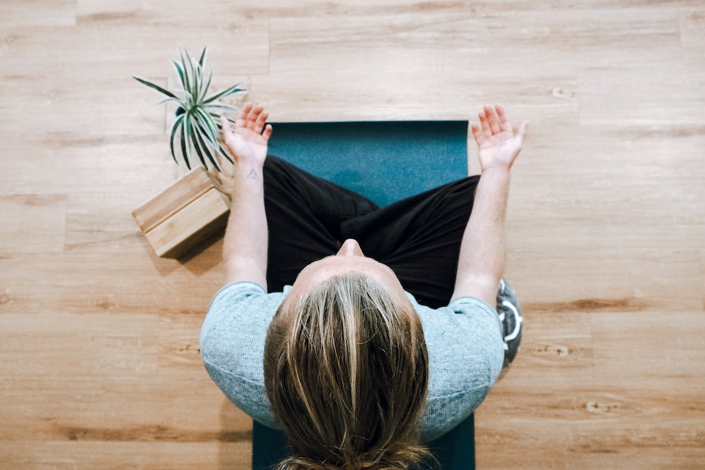 mindfulness, woman practising meditation, mindful, wellbeing