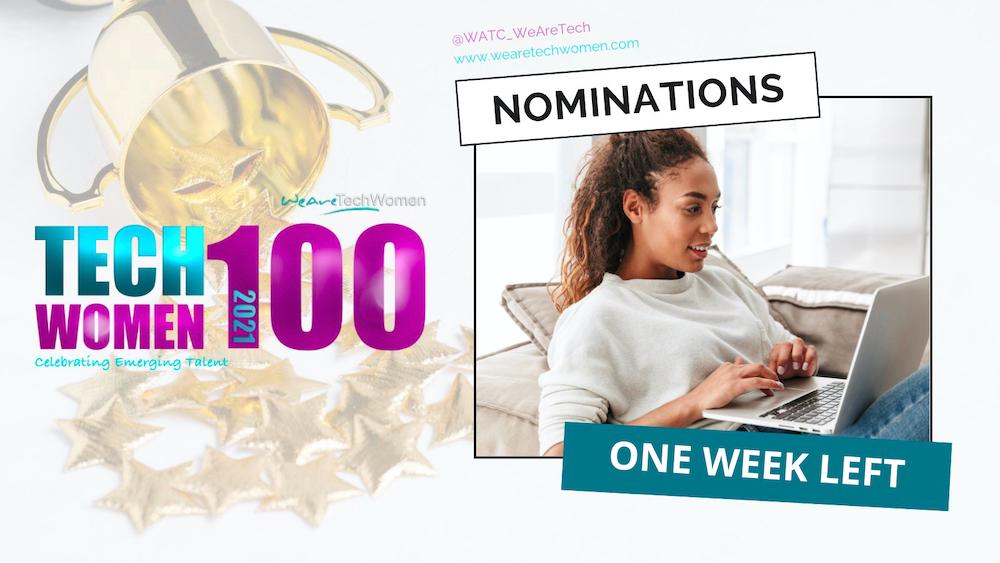 TechWomen100 One Week Left