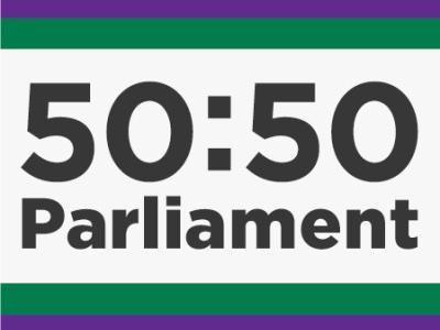 50-50 Parliament logo featured