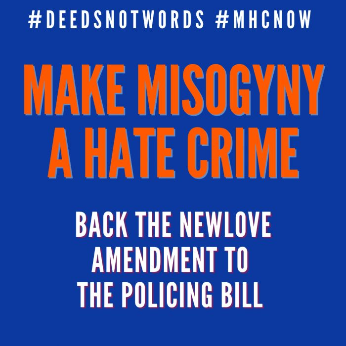 Make Misogyny A Hate Crime