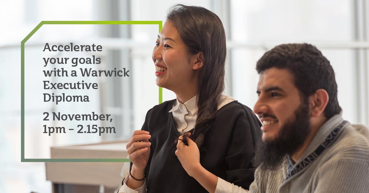 Warwick Business School, Accelerate your goals event