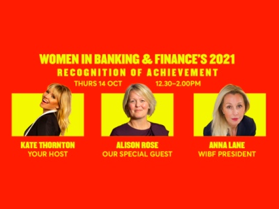Women in banking and finance's 2021 Recognition of Achievement featured